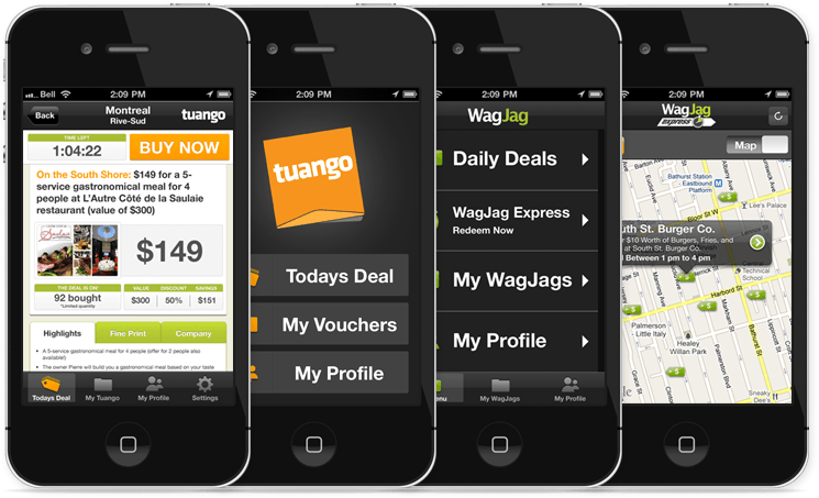 Tuango and WagJag iPhone App
